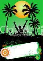 grünes party plakat