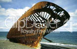 Schiffswrack in Patagonien, Chile