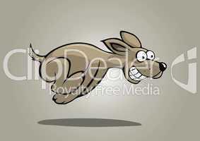 grauer Hund