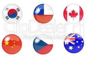 flaggen button set 5