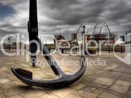 HDR image of a very large ships anchor