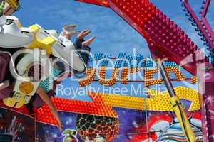 Colorful Fairground Ride