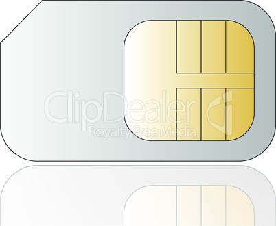 Vector cellphone sim card