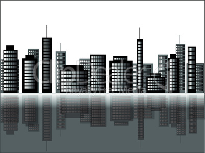 Vector Illustration of a cityscape scene