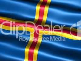Fahne von Aland .. Flag of Aaland
