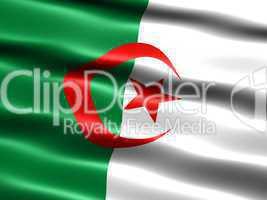 Fahne von Algerien .. Flag of Algeria