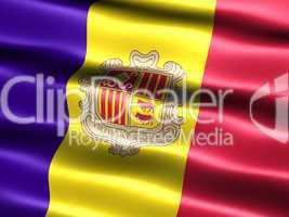 Fahne von Andorra .. Flag of Andorra