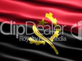 Fahne von Angola  .. Flag of Angola
