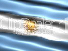 Fahne von Argentinien .. Flag of Argentina