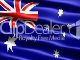Fahne von Australien  .. Flag of Australia