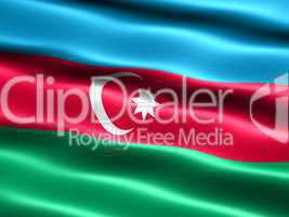 Fahne der Republik Republik Aserbaidschan -- Flag of the Republic of Azerbaijan