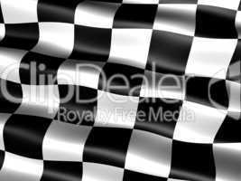 Motorsport Siegesfahne .. end-of-race flag