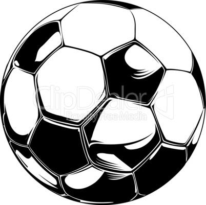 Fußball schwarz-weiss