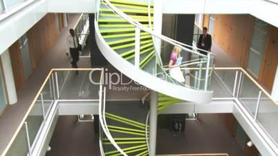 Treppenhaus, Aufzüge und Bürotüren