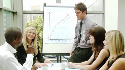 Teamarbeit von Geschäftsleuten