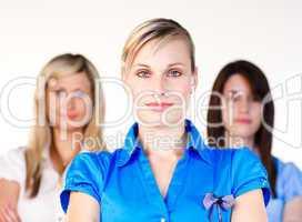Drei junge Frauen
