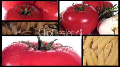 Tomatoes and Pasta Montage