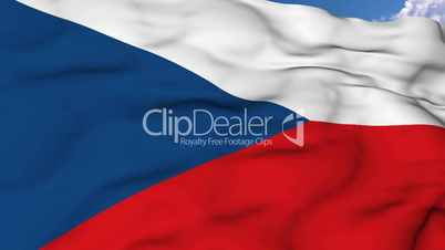 Flying flag of Czech Republic