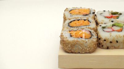 Sushi with copy space