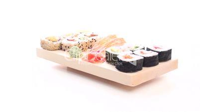 sushi wooden tray