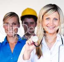 Portrait of a doctor, businesswoman and architect