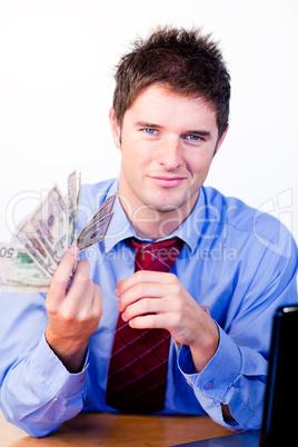Businessperson holding money