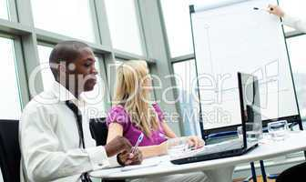 Business people working in a business project