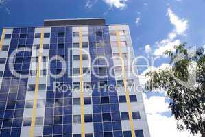 Moderne Fassade mit Solarzellen -.Facade With Solar Panels