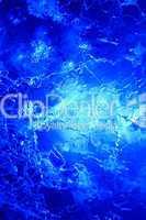 Blaues Eis als Struktur am Polarkreis
