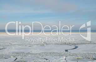 Eis auf der Ostsee am Polarkreis