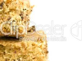 Chocolate Chip Cookie Bar with Copyspace