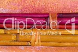 farbiger Bambus