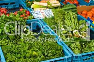 Kräuter auf dem Markt, herbs on a market