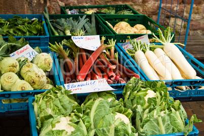 Gemüse auf dem Markt, vegetable on a market