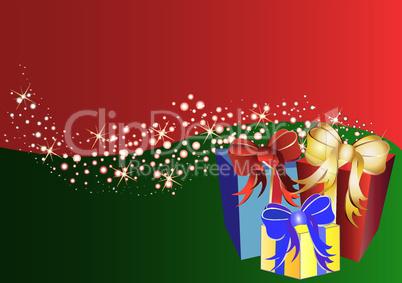 Weihnachtlicher Hintergrund mit Geschenken