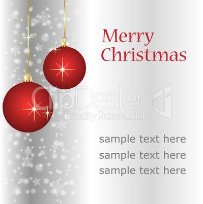 silberne weihnachtskarte