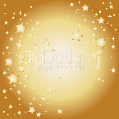 goldener sternen hintergrund