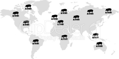H1N1 Schweinegrippe weltweit