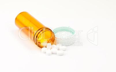 Close up of pills