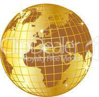 goldener globus europa und afrika