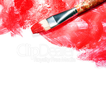 Red strokes on white