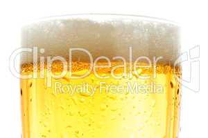 Close up of beer pint