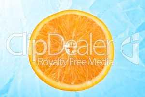 Orange over ice