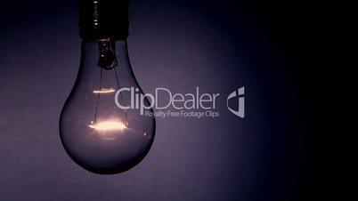 light bulb grunge flicker