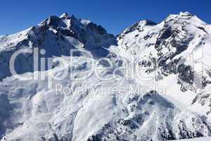 Bergpanorama im Winter