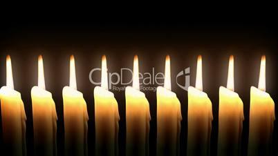 Candle line. Loop. CG. HD.