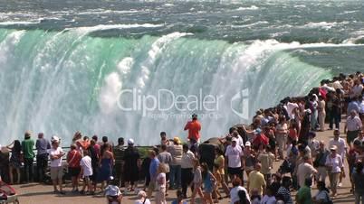 Tourists at Niagara Falls edge