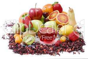Tasse Früchtetee