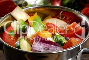 Ratatouille Gemüse roh