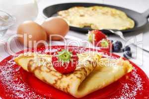 Pfannkuchen mit Zutaten